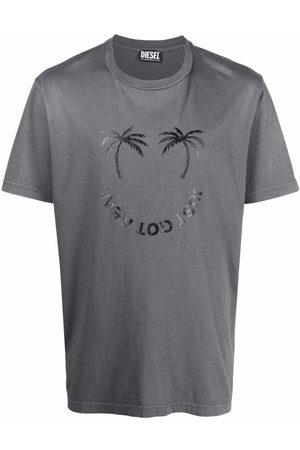 Diesel Slogan-print cotton T-shirt - Grey
