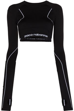 Paco rabanne Logo-band cropped top