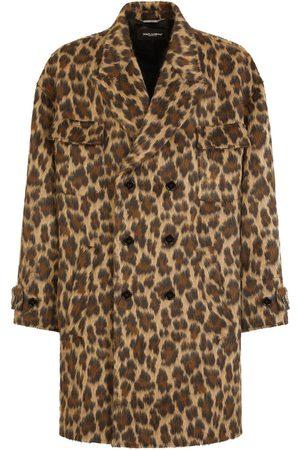 Dolce & Gabbana Men Coats - Double-breasted leopard coat
