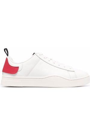 Diesel Double-heel tab leather trainers