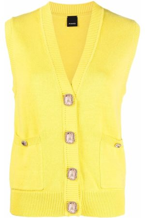 Pinko Women Cardigans - Sleeveless V-neck cardigan