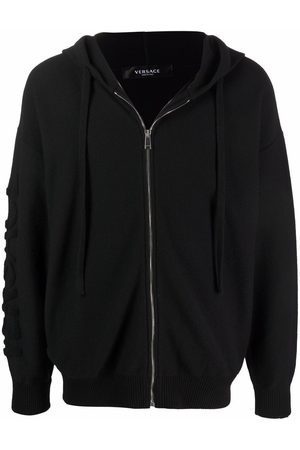 VERSACE Men Long sleeves - Long-sleeve zip-fastening hoodie