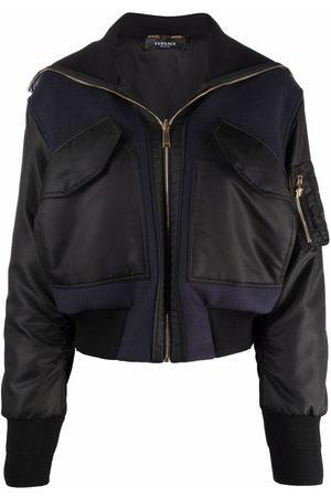 VERSACE Women Bomber Jackets - Cropped bomber jacket
