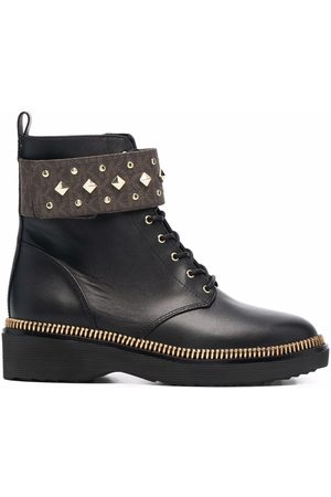 Michael Kors Women Boots - Haskell studded logo leather boots