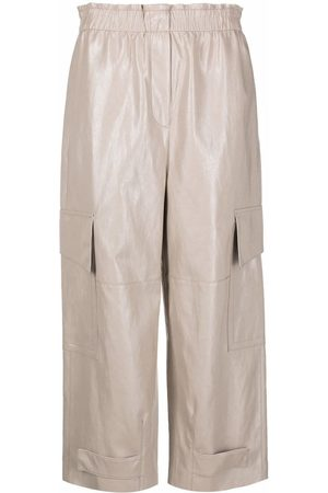 Luisa Cerano Cropped cargo trousers - Neutrals