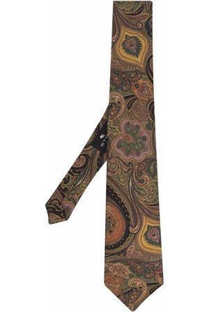 Etro Men Bow Ties - Paisley print silk tie