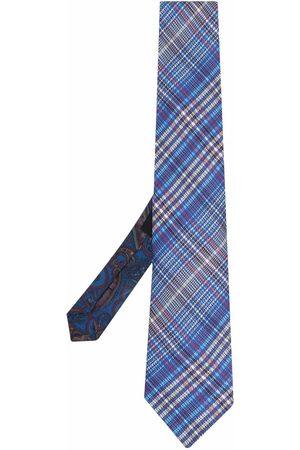 Etro Check-print silk tie