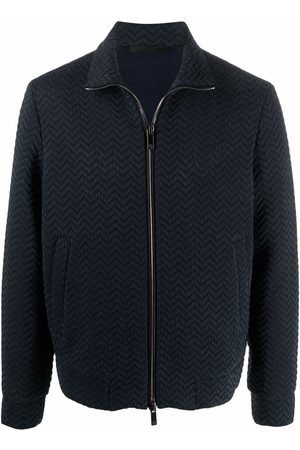 Armani Zip-up knitted jumper