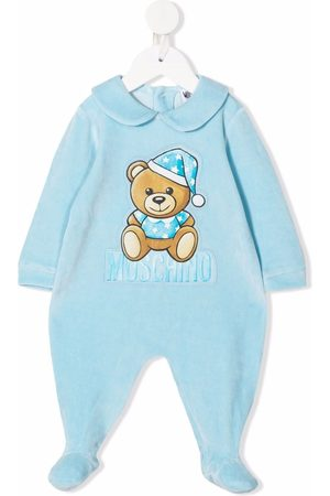 Moschino Kids Sleepcap teddy bear pyjamas
