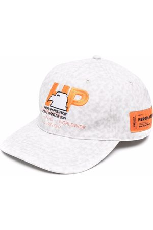 Heron Preston Men Hats - HP-EAGLE HAT LIGHT GREY ORANGE