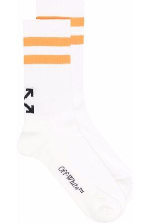 OFF-WHITE Arrows motif striped socks