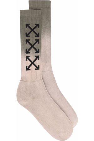 OFF-WHITE Socks - Arrows logo gradient-effect socks