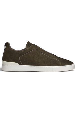 Ermenegildo Zegna Men Flat Shoes - Triple Stitch slip-on sneakers