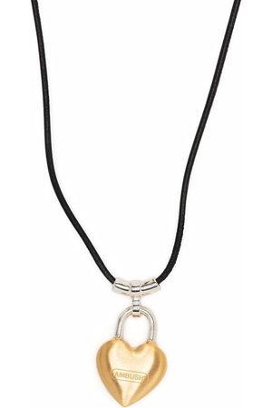 AMBUSH Heart padlock pendant necklace