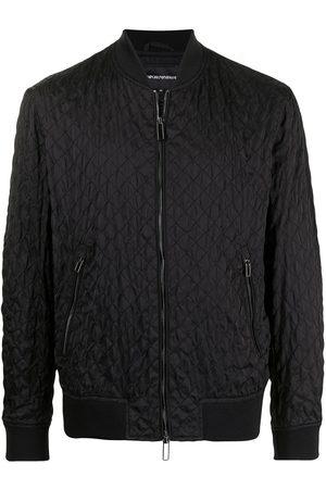 Emporio Armani Men Bomber Jackets - Embroidered zip-up bomber jacket