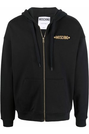 Moschino Logo-lettering zipped hoodie