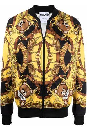 Moschino Teddy bear-print bomber jacket