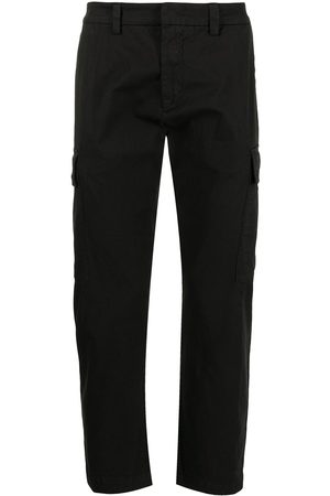 Iceberg Men Formal Pants - Pressed-crease stretch-cotton tailored trousers