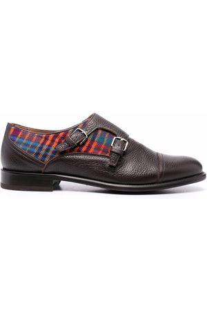Etro Men Formal Shoes - Check-panel monk shoes