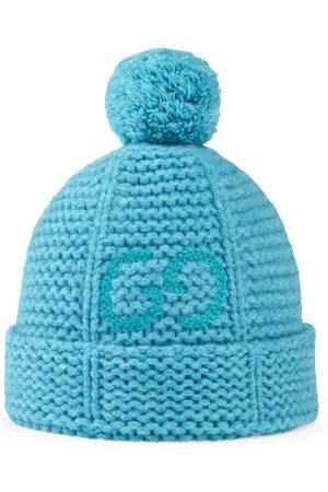 Gucci Kids Boys Hats - Pompom-detail wool hat