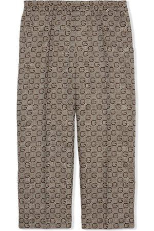 Gucci Boys Pants - G intarsia wool trousers