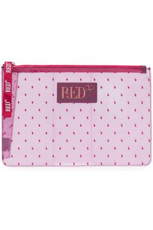 RED(V) Women Clutches - Lace-print zip-fastening clutch bag