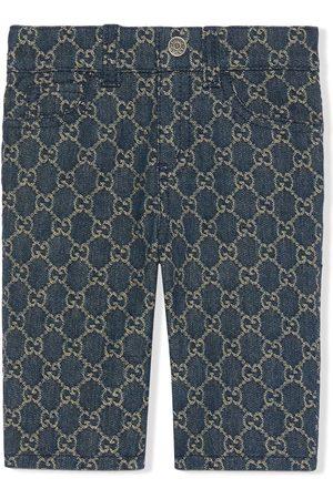 Gucci GG-motif denim jeans
