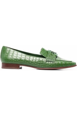 Tory Burch Croc-effect loafers