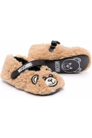Moschino Shearling teddy slippers