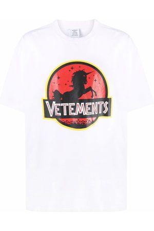Vetements Short Sleeve - Logo-print short-sleeved T-shirt