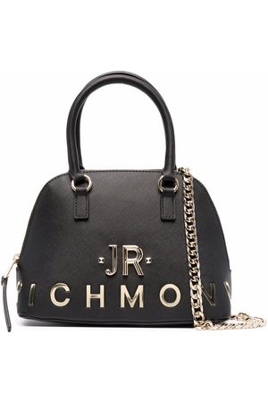 John Richmond Women Bowling Bags - Logo-letter bowling tote bag