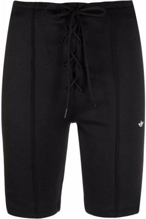 adidas Women Shorts - Laced high-waisted shorts