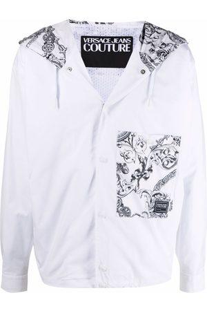 VERSACE Baroque-print hooded jacket