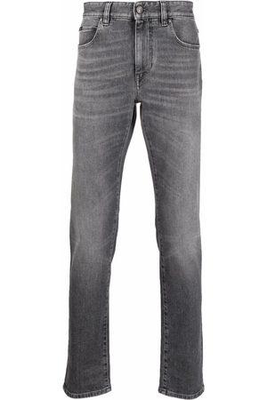 Z Zegna Mid-rise straight leg jeans - Grey