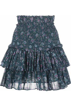 Isabel Marant Women Printed Skirts - Floral-print high-waisted skirt