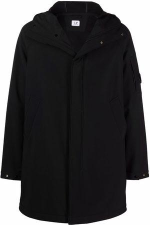 C.P. Company Men Coats - Logo-patch hooded coat