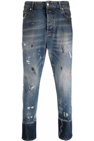 John Richmond Men Slim - Distressed-finish slim fit jeans