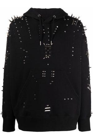 Givenchy Men Hoodies - Stud-embellished hoodie