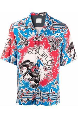 Paul Smith Cowboy graphic-print shortsleeved shirt