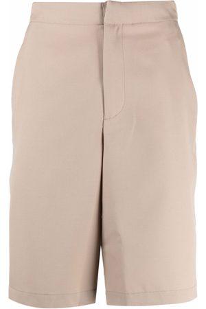 OAMC Straight-leg virgin wool shorts - Neutrals