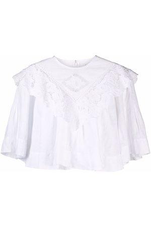 Isabel Marant Ruffled cropped blouse