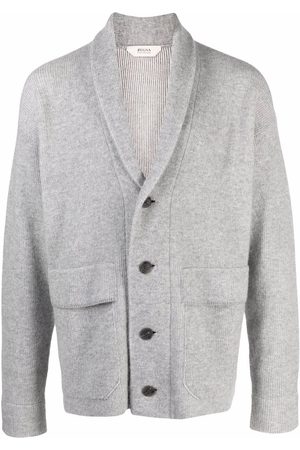 Z Zegna Button-up knitted cardigan - Grey