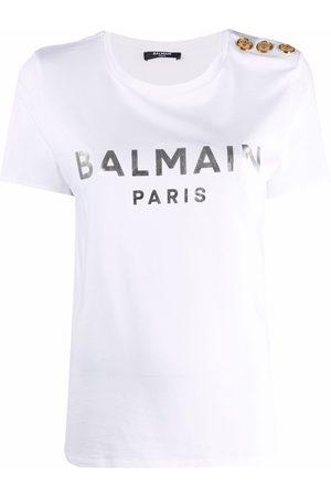 Balmain Women T-shirts - Logo-print T-shirt
