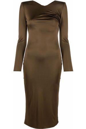 VERSACE Women Long sleeves - Long-sleeve silk dress