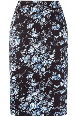 Moschino Floral-print pencil skirt