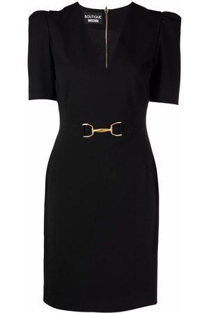 Moschino Women Bodycon Dresses - Horsebit-detail fitted dress