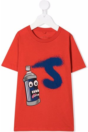 Stella McCartney Boys Sweatshirts - Graphic-print crewneck T-shirt
