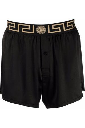 VERSACE Men Pajamas - Greca border silk pajama shorts