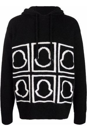 Moncler Logo-intarsia knitted hoodie