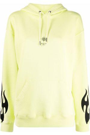 Givenchy Women Hoodies - Sacred Heart print drawstring hoodie